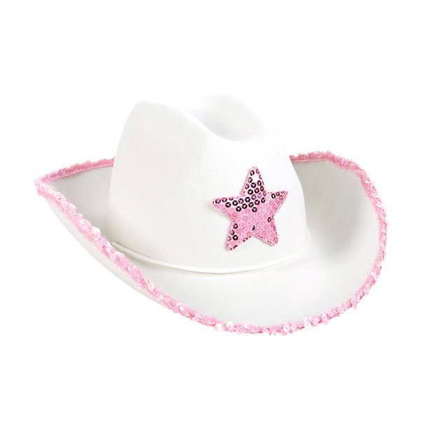 Costume Accessories Rhode Island Novelty White Felt Cowgirl Hat with Sequin  Pink Star - Costume Accessories - Walmart.com - Walmart.com