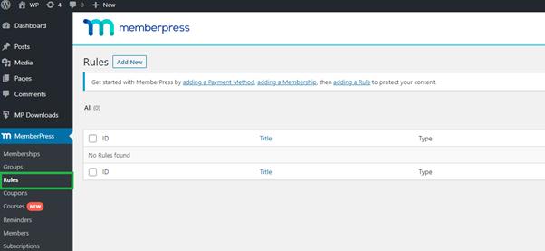 memberpress add new rules