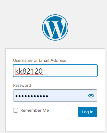 Username WordPress