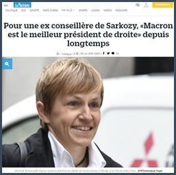 Le Parisien pour une ex-conseillère de Sarkozy, Macron est le meilleur président de droite depuis longtemps