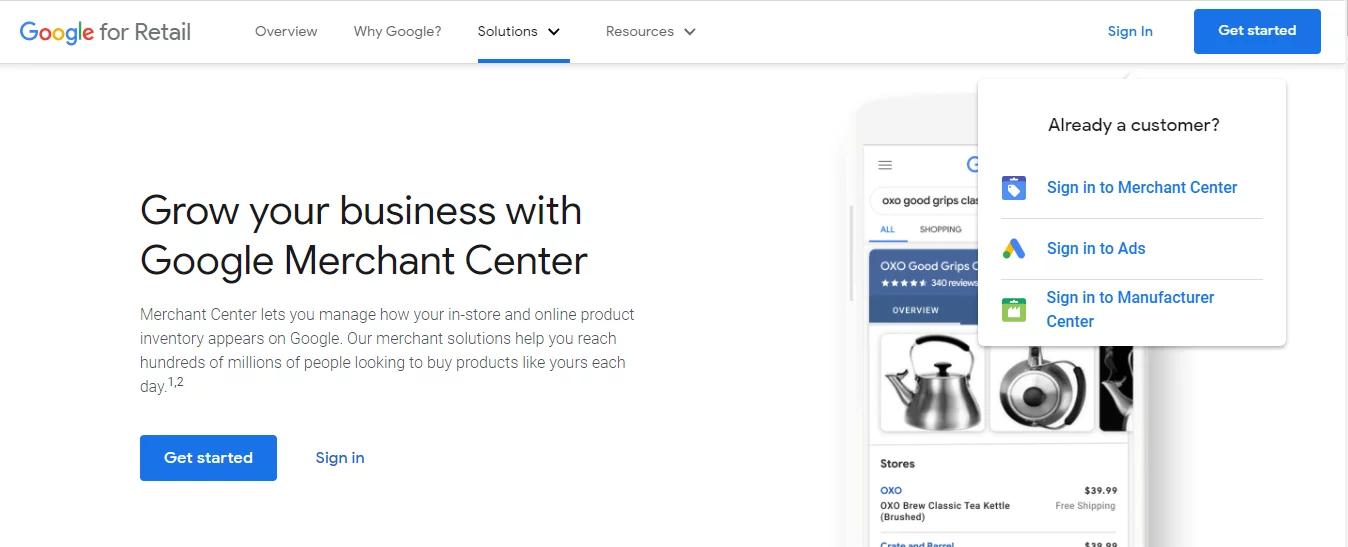 Setup your Google Merchant Center Account