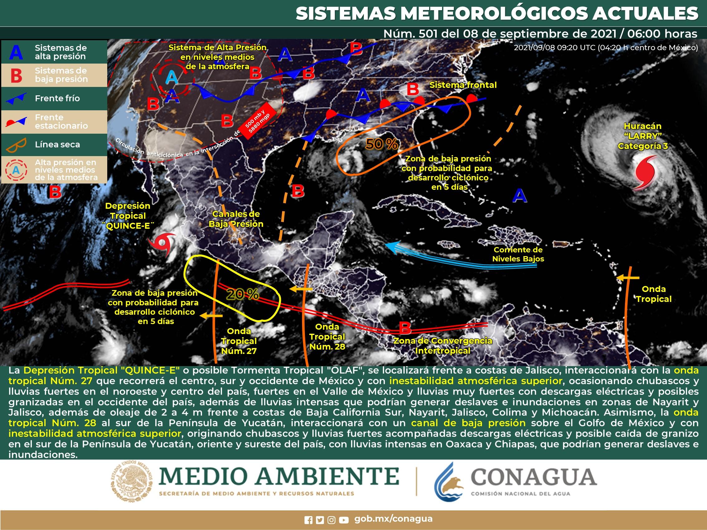 Mapa del clima en México