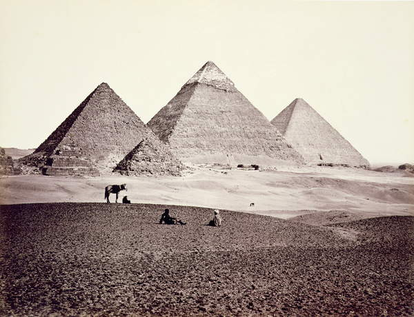 Images of The Pyramids of El-Geezah, from the South-West, 1858 (b/w photo), Frith, Francis (1822-98) / English, Private Collection, © The Stapleton Collection / Bridgeman Images