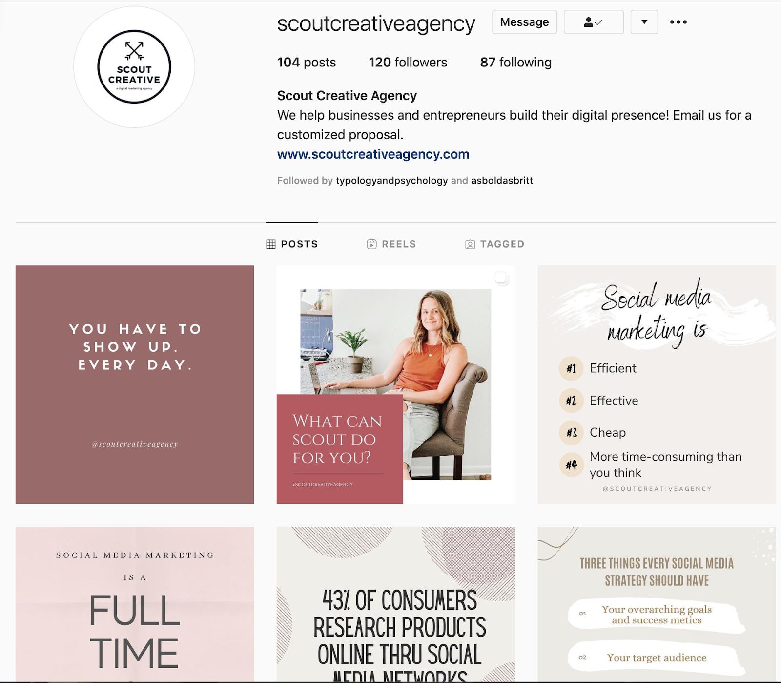scoutcreativeagency instagram profile