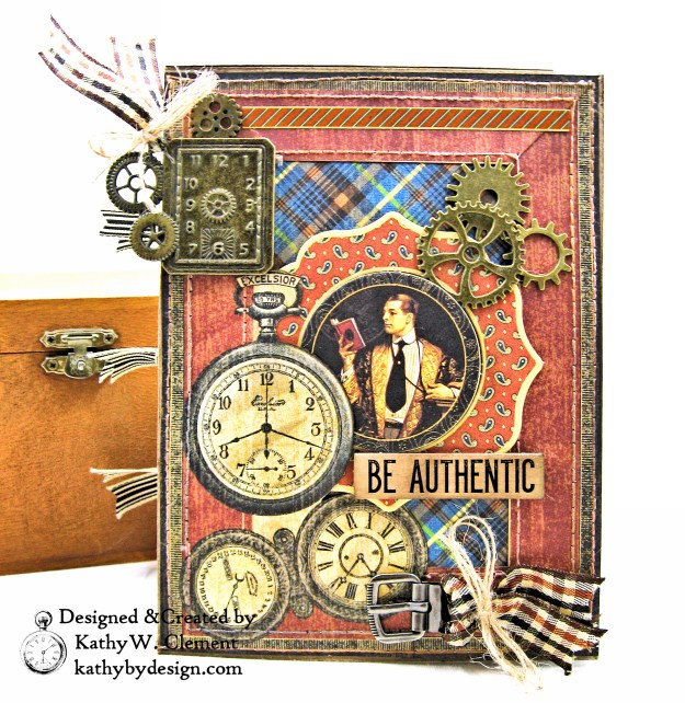 Graphic 45 A Proper Gentleman Card Folio by Kathy Clement for The Funkie Junkie Boutique Photo 01