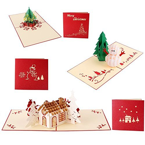 OHUHU三包3D聖誕賀卡