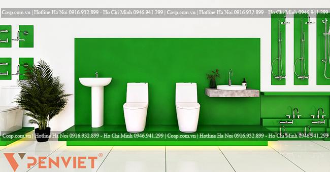 Thiết kế kệ trưng bày sản phẩm thiết bị vệ sinh tại Quảng Bình
