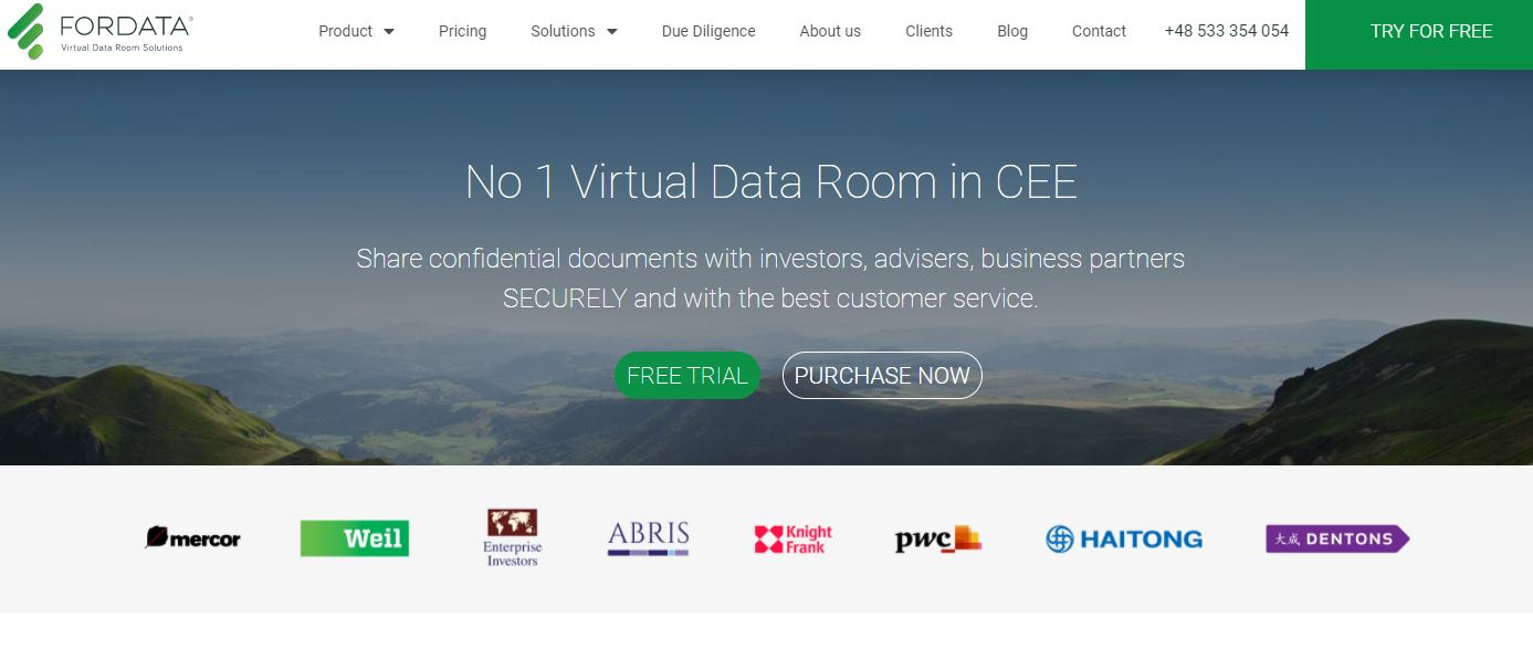 ForData is one of the virtual data room providers