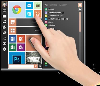Start Menu Reviver untuk pengguna layar sentuh