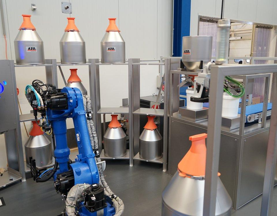 azo robotics added to the convey line process