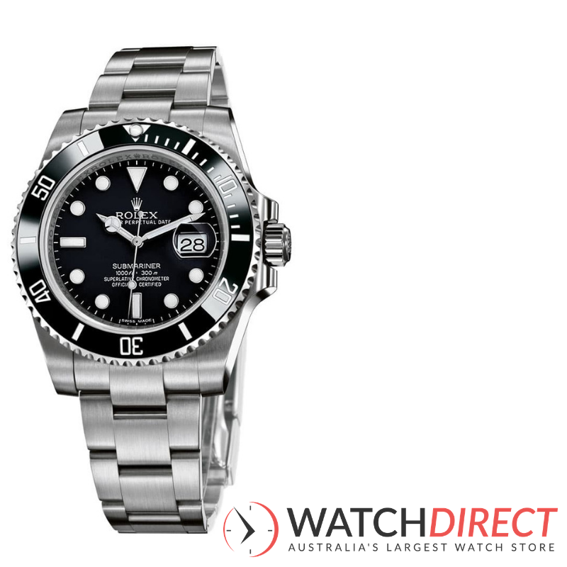 Rolex Submariner Automatic Black Dial Men's Watch available through Watch Direct.