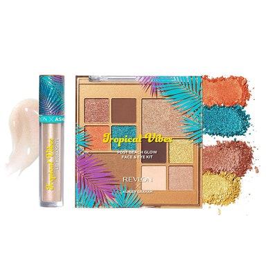 Revlon x Ashley Graham Tropical Vibes Makeup Kit on white background