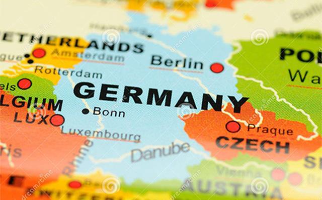 Tên nước Đức dịch sang tiếng Anh trên bản đồ thế giới