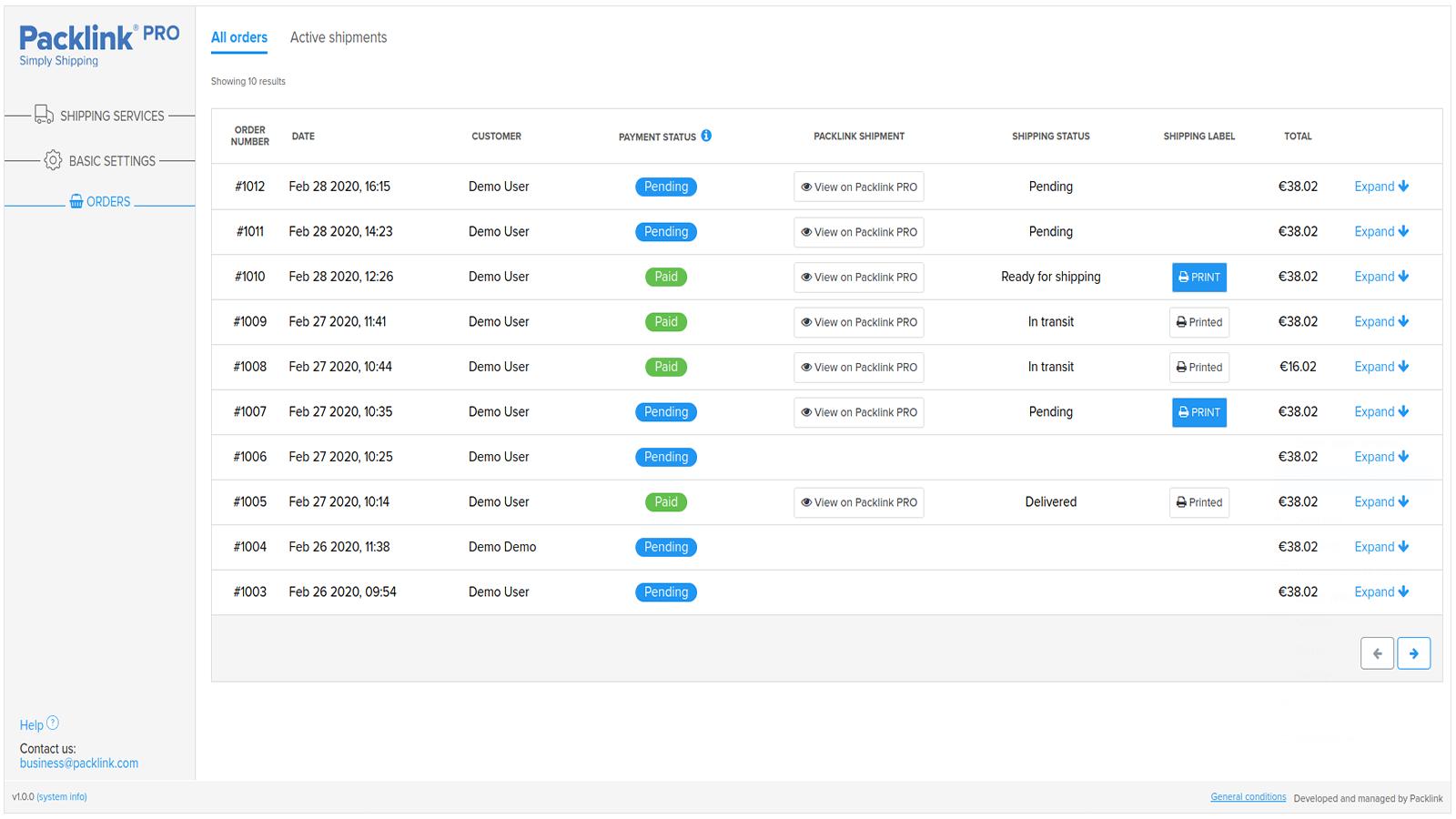 Packlink PRO Shipping App