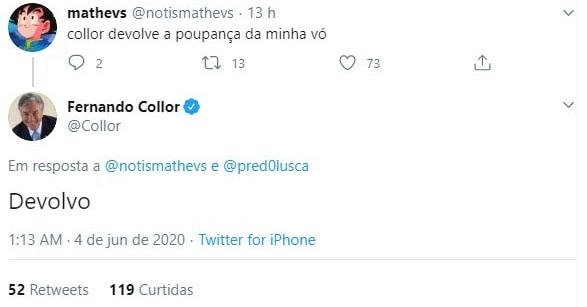 Fernando Collor devolverá dinheiro?