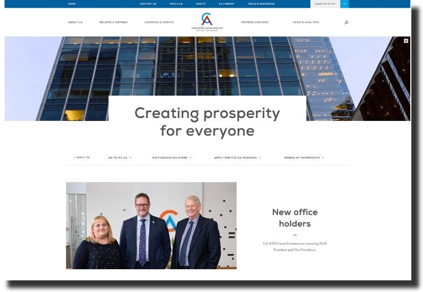 Chartered Accountants New Zealand web design Accounting Website Design