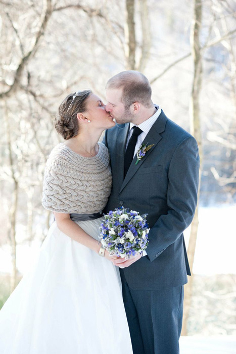 cable knit wedding stole