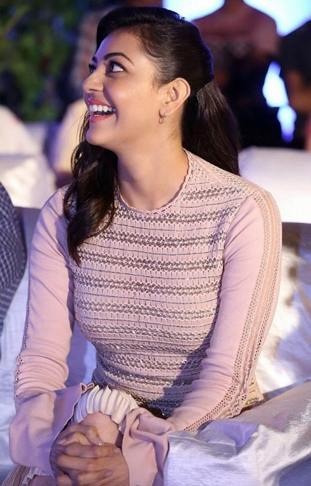 Kajal Aggarwal latest photos in pink skirt