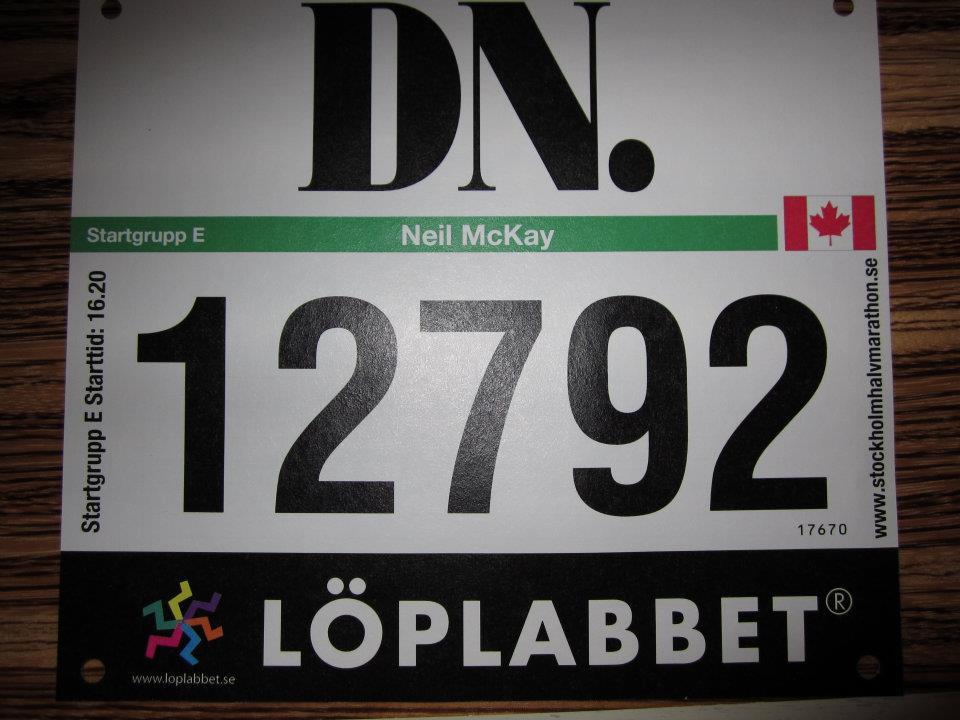 Stockholm Half-Marathon Race-bib