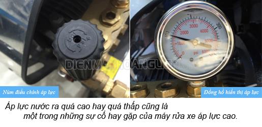 sử dụng điện hợp lý trong quá trình sử dụng máy rửa xe