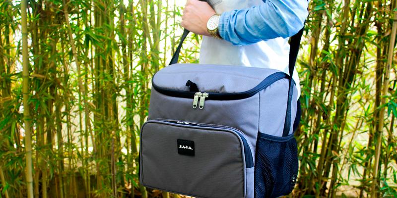 bolsa térmica também pode ser usada para transportar suas compras, reduzindo assim o uso de sacolas plásticas