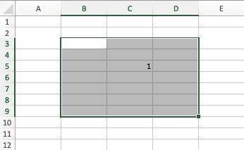 Select the desired range of cells