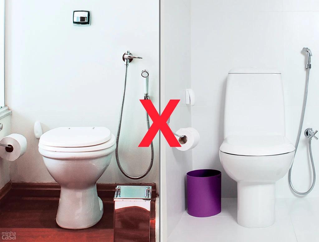 Diferenças entre bacias sanitárias com válvula de descarga e com caixa acoplada.