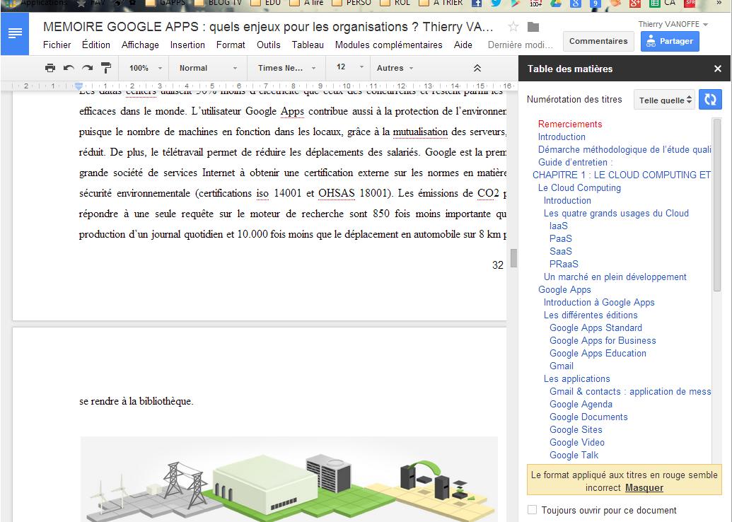 Add on table des mati res sur gdoc le blog de thierry vanoffe coach g suite - Exemple table des matieres ...