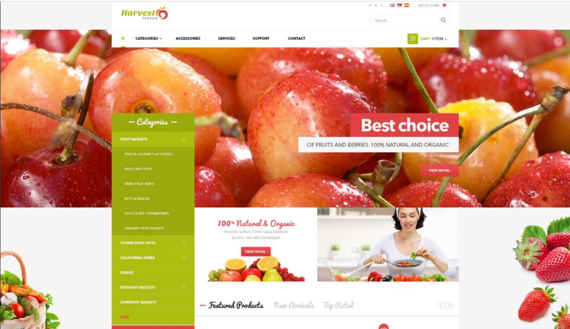 Fruits and vegetables magento theme ves harvest