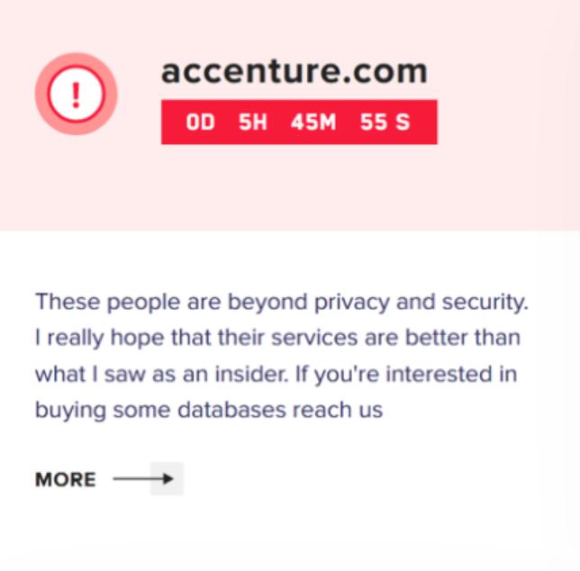 Accenture Attack