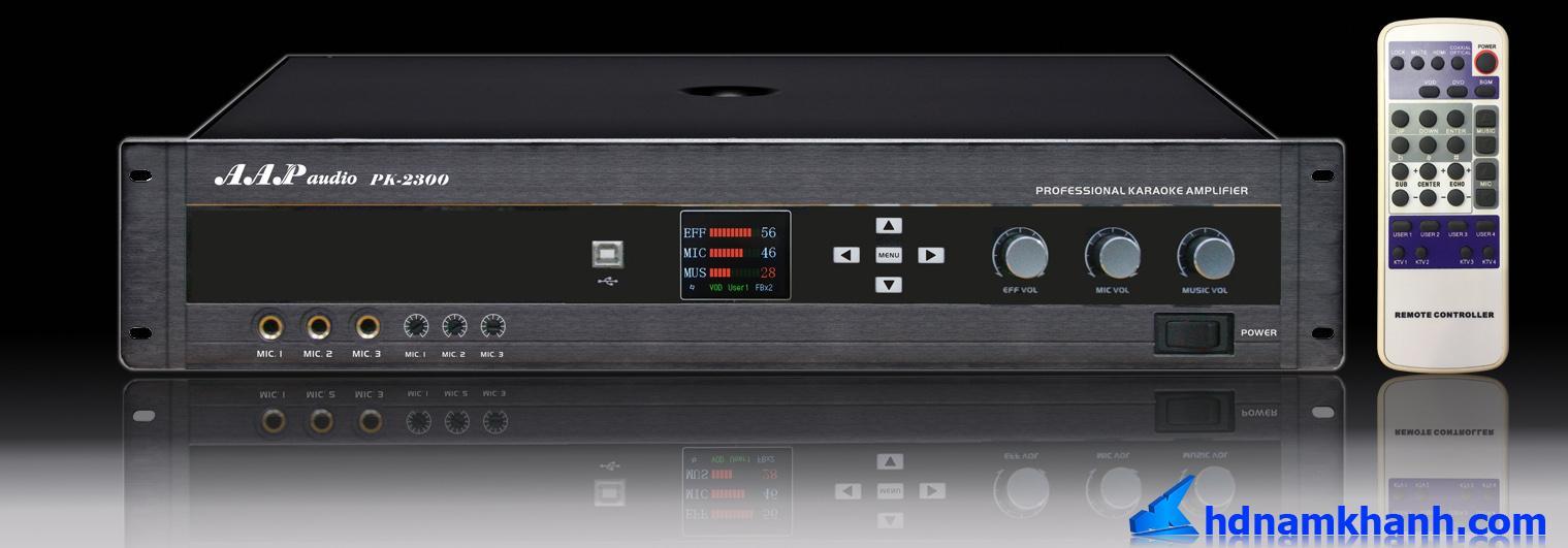 Amply AAP Audio PK-2300, tận hưởng âm thanh karaoke chuyên nghiệp
