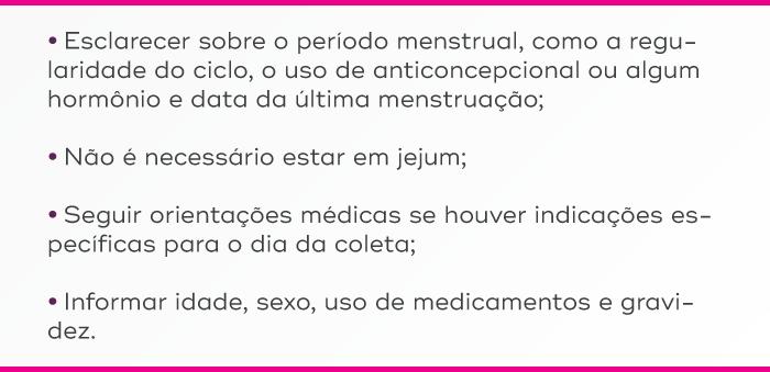 Recomendações para o exame de prolactina