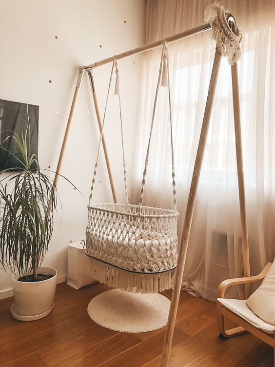 Install A Creative Hanging Bassinet
