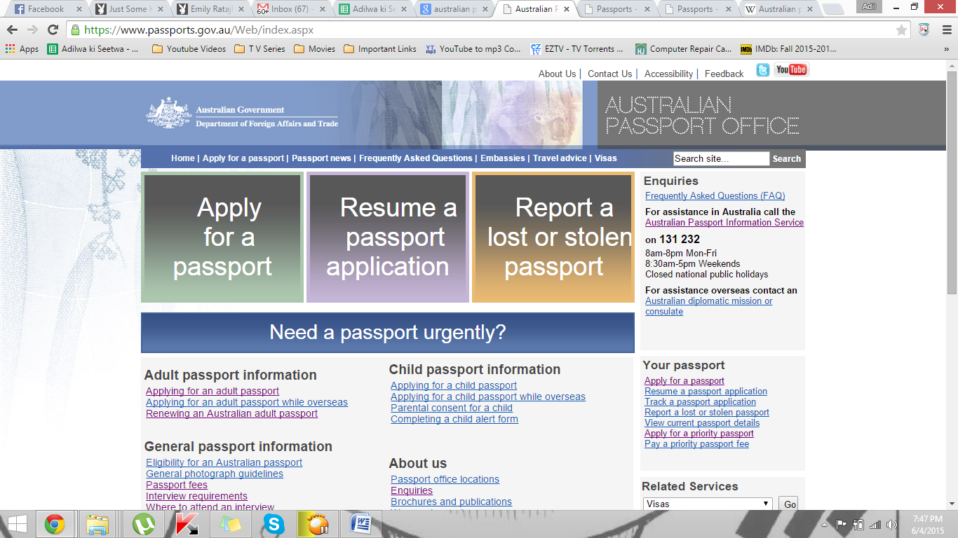 Passport Registration in Australia