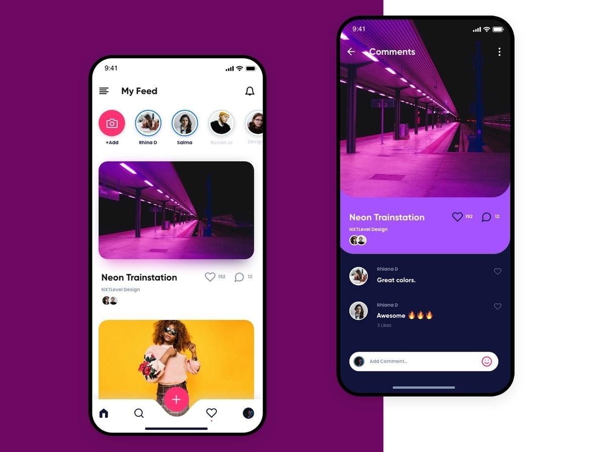 Social media app built using react native technology