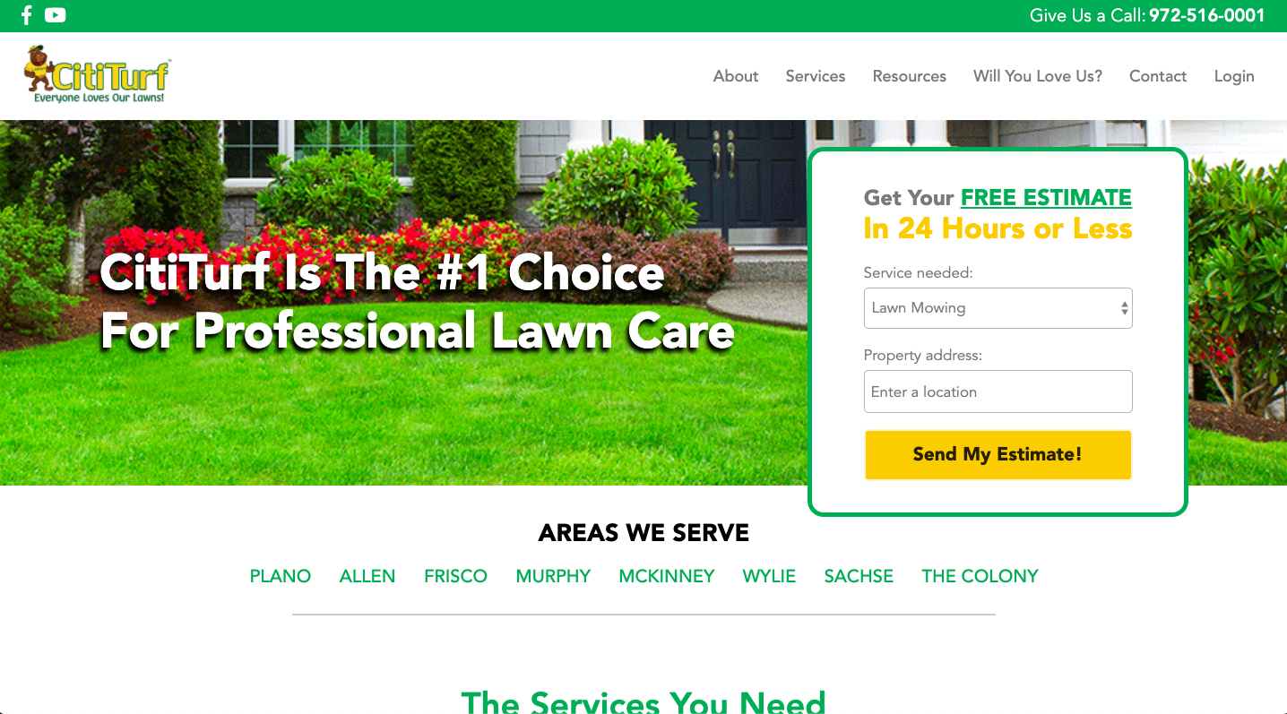 CitiTurf: Lawn Care Website