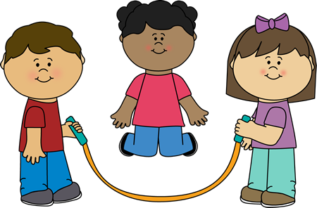 students playing jump rope
