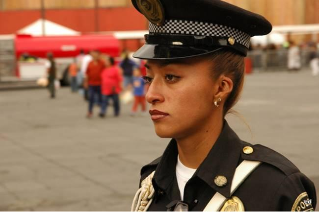 The most beautiful police girls from Mexico