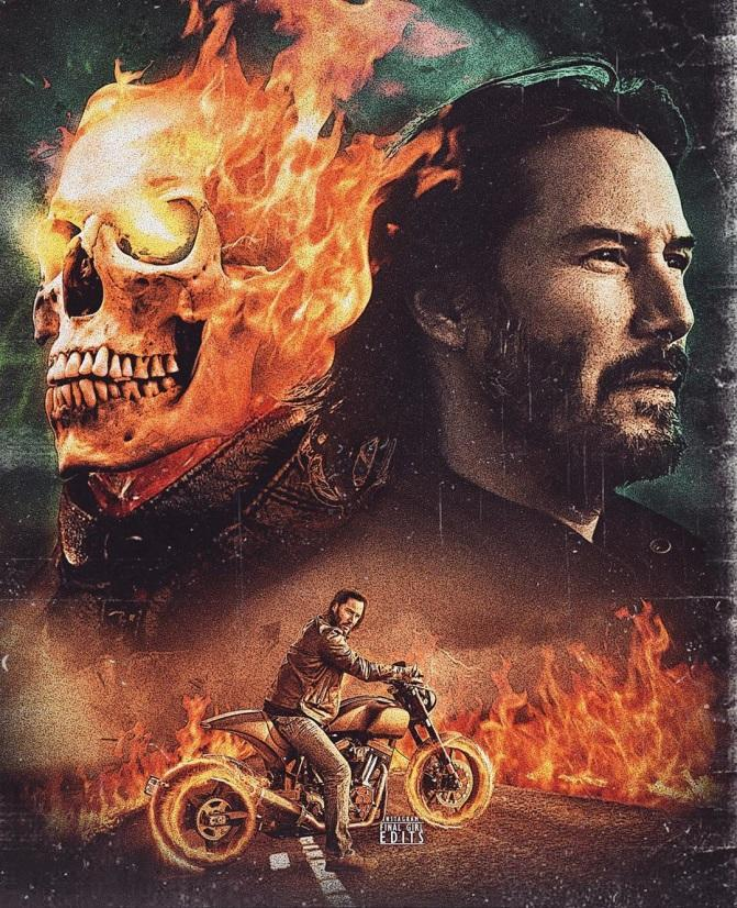 Image result for keanu reeves ghost rider