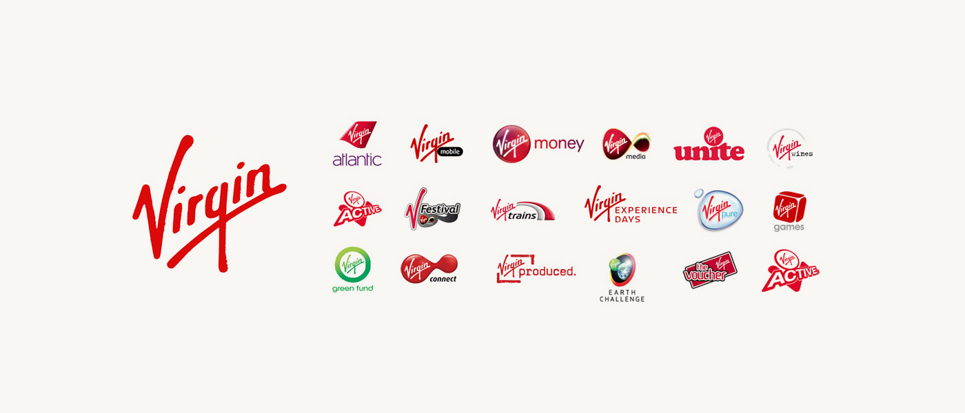 Example of brand architecture from Virgin