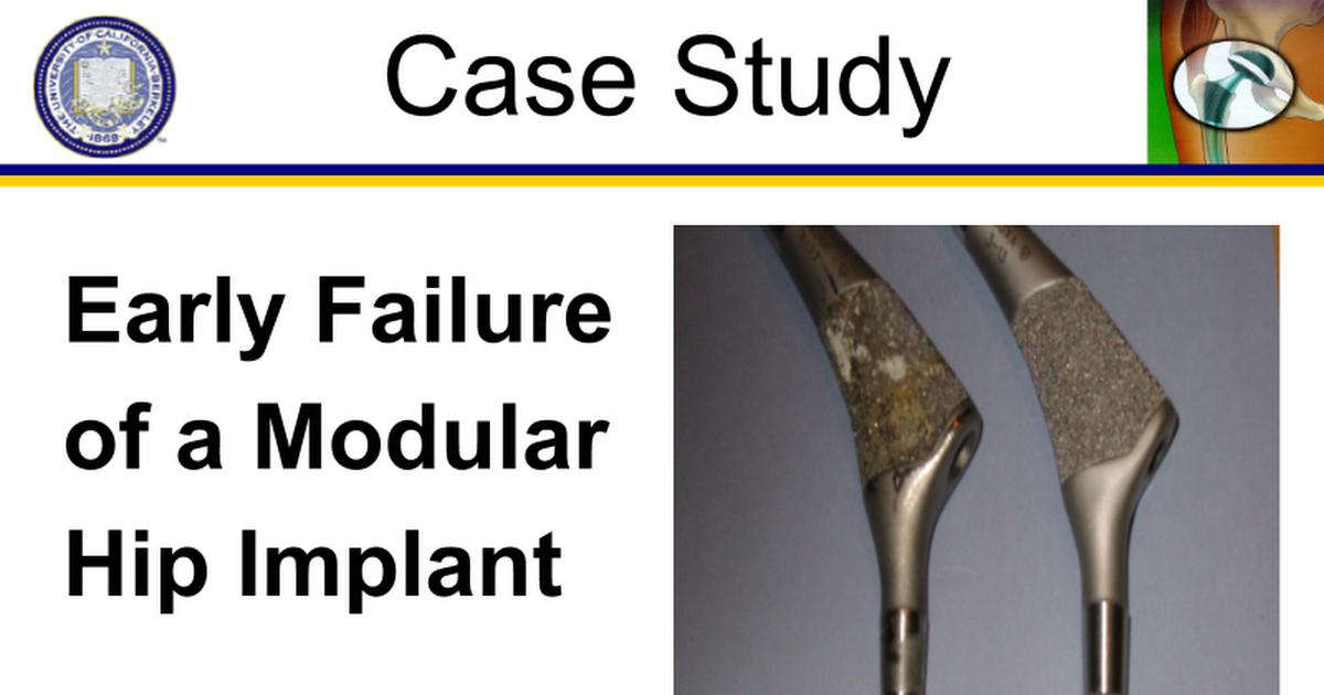 Corrosion of hip implants - Google Slides