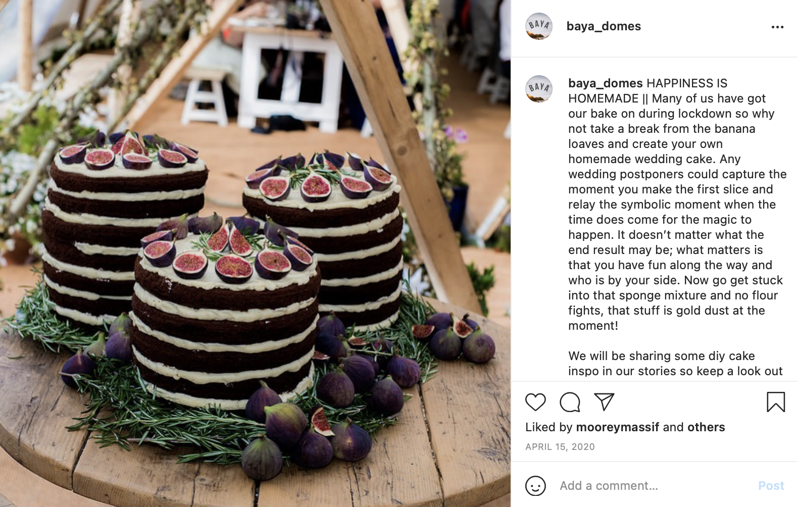 DIY wedding cake Baya Domes