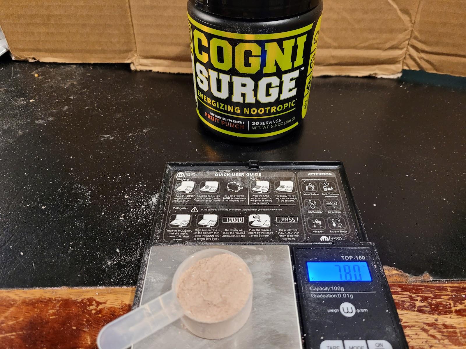 cognisurge scooper size