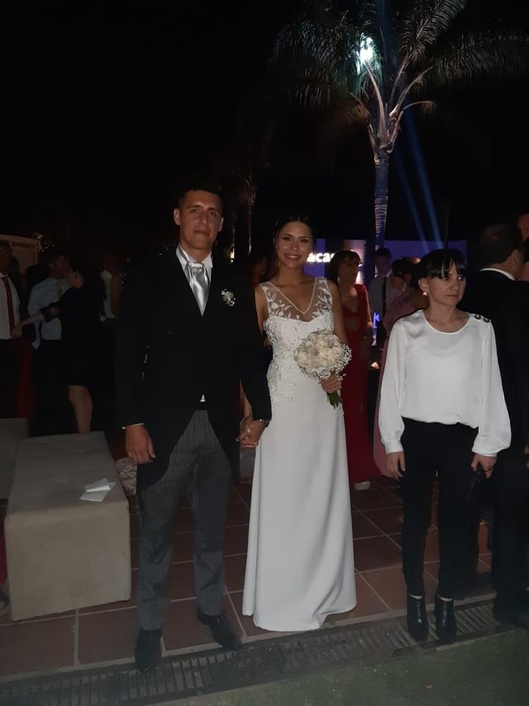 Omar, Emilia y junto a ellos la organizadora del evento, Mabel Lencinas