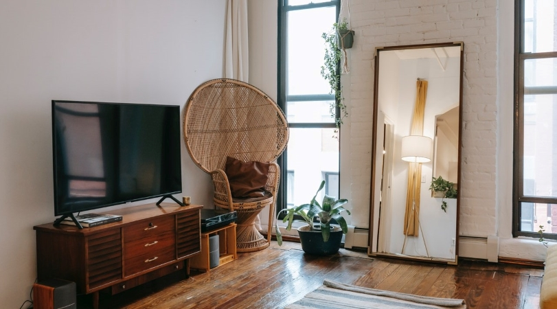 Use mirrors and light colors to make your small space seem bigger