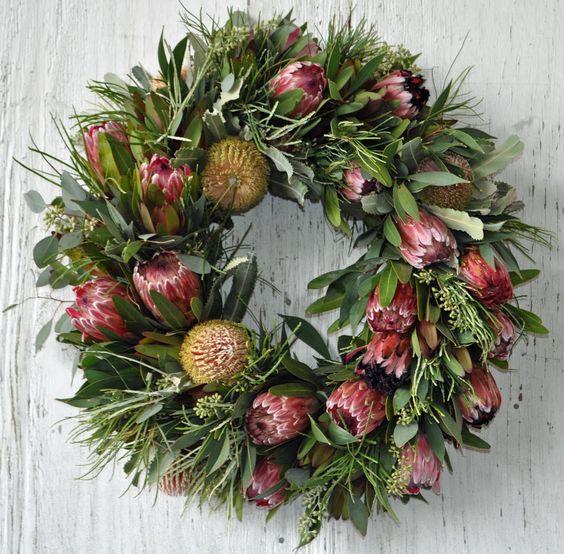Native Australian Flower Wreath, Christmas Decorations