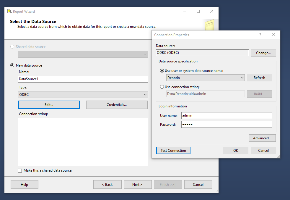 How to access Denodo Virtual DataPort from Microsoft SQL