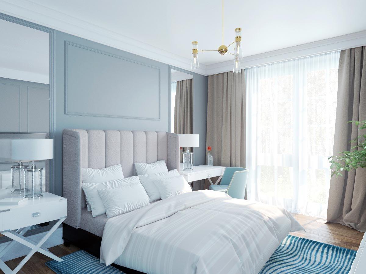 Light Blue Scandinavian Bedroom Ideas