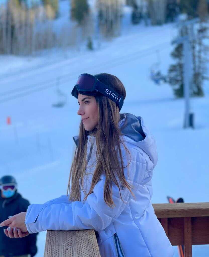 Nuestra amiga Bárbara en Powder Mountain, Utah