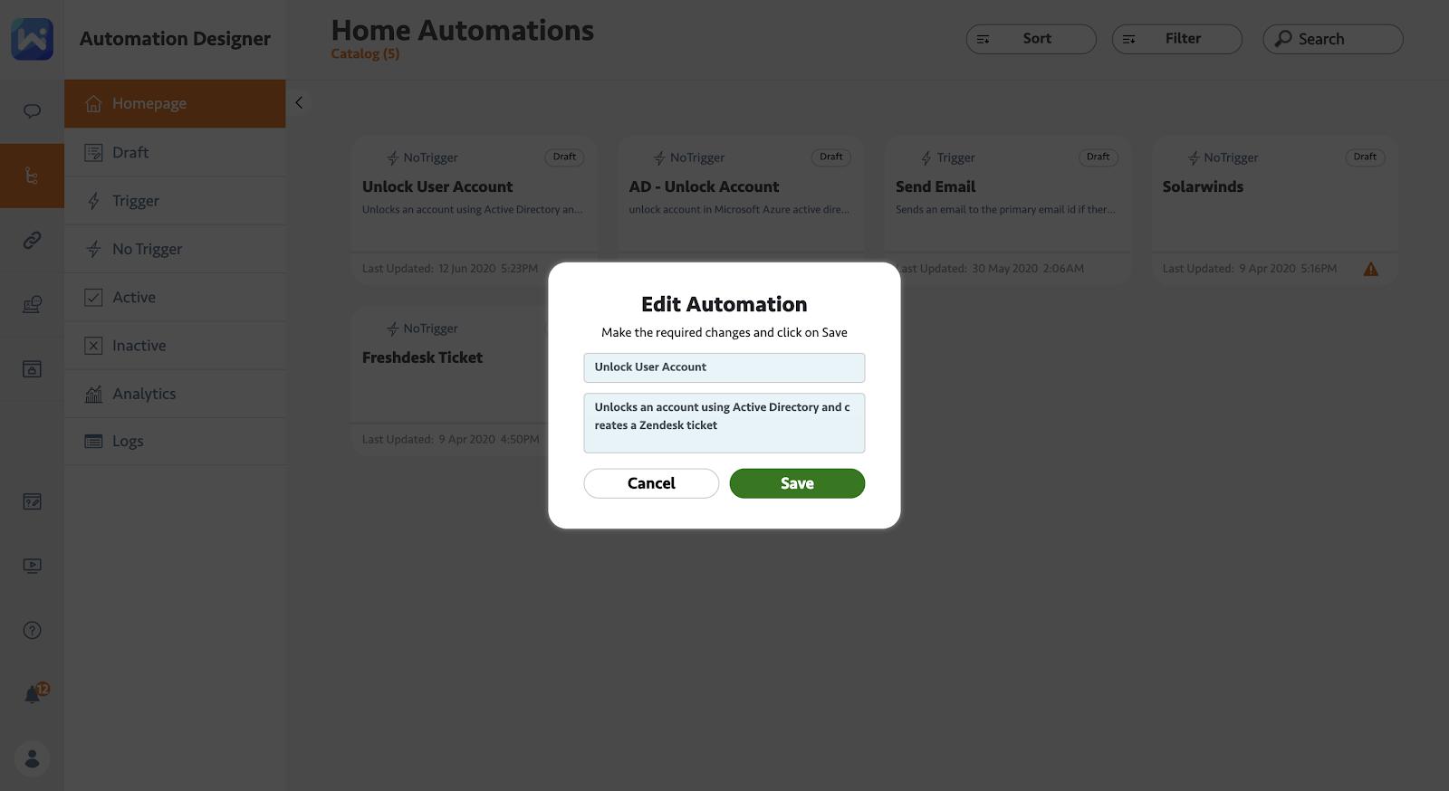 Edit Automation